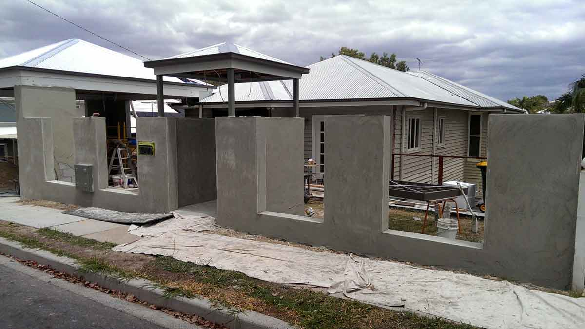 second stage of completing the walls